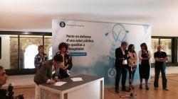 Benito Menni CASM signa el pacte en defensa d'una  salut pública de qualitat a l'Hospitalet