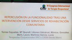 Participació al Congrés Internacional de Teràpia Ocupacional (CITO VI)