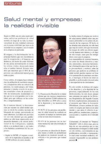 entrevista Dr Orrit, Director Gerenent Benito Menni CASM