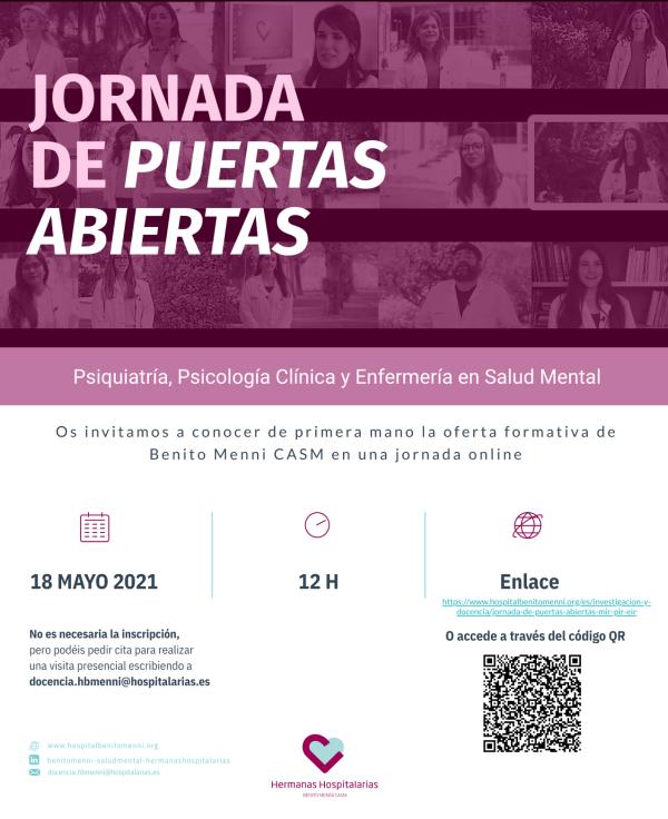 Anunci Jornada Portes Obertes BMenni 2021 red